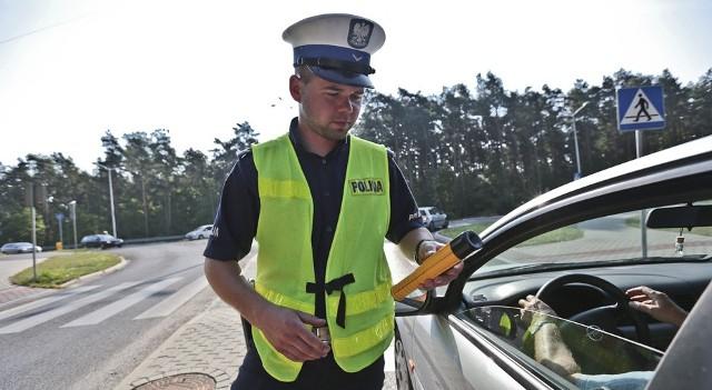 Policjanci kontrolowali kierowców na al. Zjednoczenia w Zielonej Górze