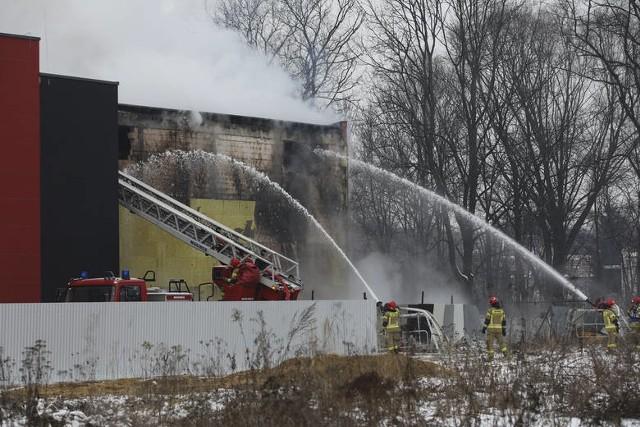 Akcja gaszenia pożaru miejskiego archiwum