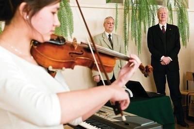 Oprócz informacji był koncert muzyki Bacha Fot. Kamila Zarembska