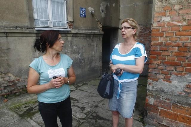 Awantura o wodę przy ul. Strzałowskiej w Szczecinie.