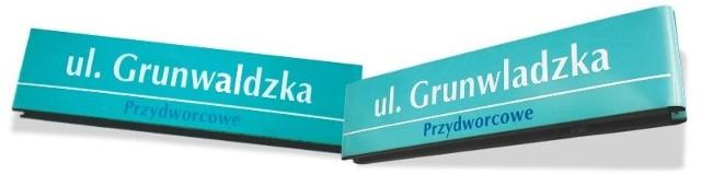 Tablica z nazwą ulicy miała błąd. Zamiast Grunwaldzkiej widniał napis Grunwladzka.