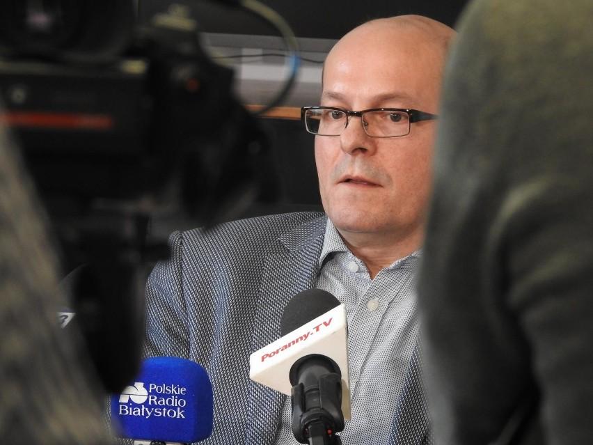 Usk bialystok konferencja prasowa dyrektor szpitala oddzial...