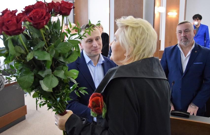 Gratulacje Krzysztofowi Brejzie złożyła starosta Wiesława...