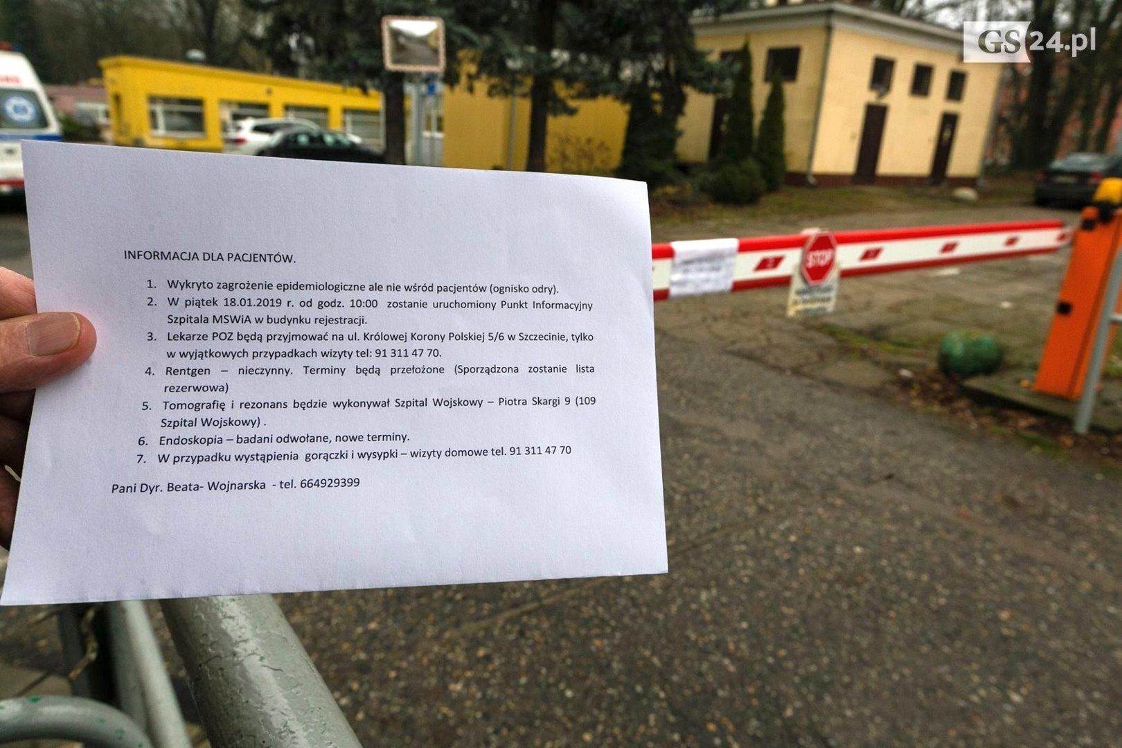 1d7329882b W szpitalu MSWiA przy ul. Jagiellońskiej w Szczecinie wprowadzono zakaz  odwiedzin po wykryciu ogniska odry