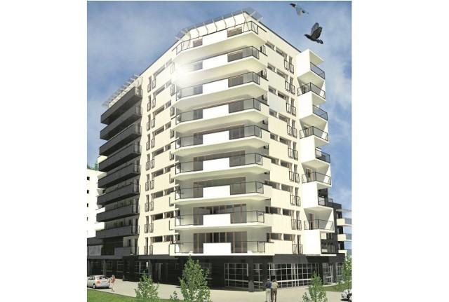 To jeszcze wstępny projekt budynku, który od wiosny 2015 roku zacznie rosnąć przy ul. Rzemieślniczej 40. Obok powstanie parking, a garaże będą się mieściły w podziemiach.