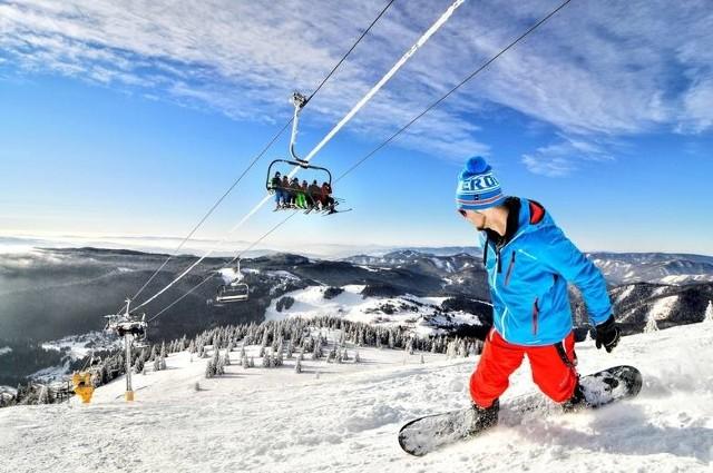 Stok narciarski Strybskie Pleso w słowackich Tatrach Wysokich