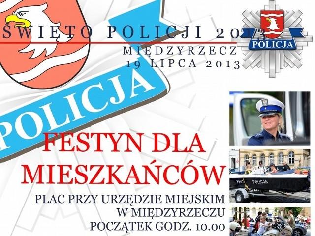 Z okazji święta policji w piątek przed ratuszem w Międzyrzeczu odbędzie się festyn.