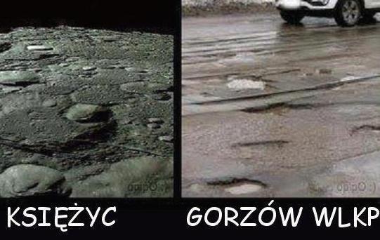 To humorystyczne zestawienie stało się hitem internetu. - Codziennie jeżdżę po Gorzowie i widzę, że ulice wyglądają jak z kosmosu - mówi nam pomysłodawca.