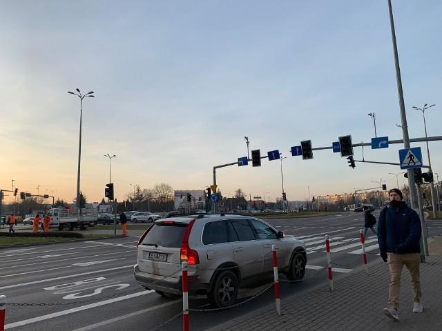 Awaria sygnalizacji świetlnej na skrzyżowaniu ulic Wiejskiej i Kopernika