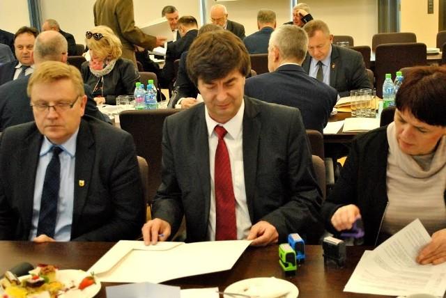 Na spotkaniu w Warszawie skrupulatnie musiała doglądać cyferek skarbnik  powiatu Zofia Łącka