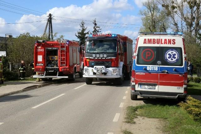 Pożar budynku w miejscowości Borowa pod Wrocławiem
