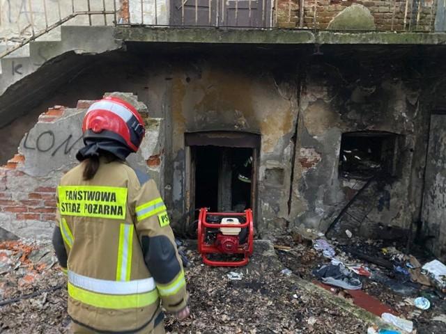 Pożar przy ul. Słowackiego.