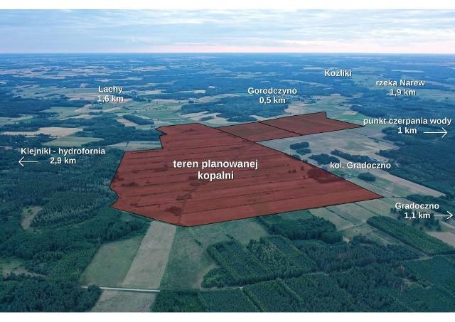 Taki teren ma zająć planowana kopalnia torfu na styku gmin Narew i Czyże