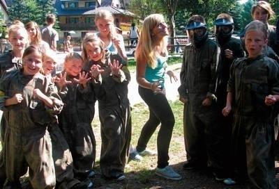 Skawińskie dzieci na obozie w Murzasichle organizowanym przez stowarzyszenie FOT. ARCHIWUM