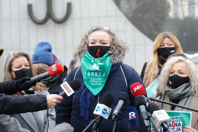"Konferencja prasowa ""komitetu legalna aborcja, bez kompromisow""n/z Marta Lempart."