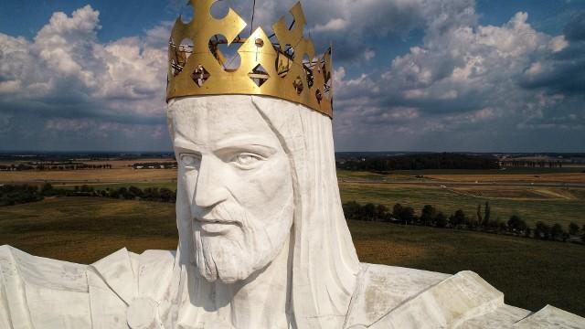 Pomnik Chrystusa Króla w Świebodzinie, sobota (15.08.2020) - tak blisko szczytu figury nie byliśmy jeszcze nigdy