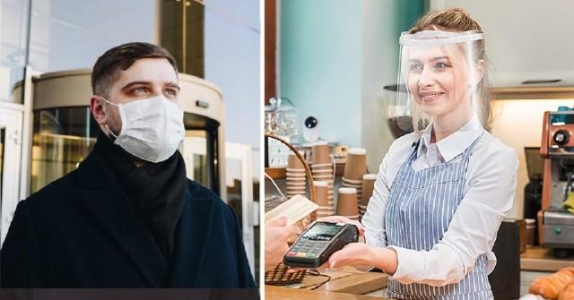 W miejscach publicznych należy zakrywać usta i nos. Zgodnie z wytycznymi można to robić za pomocą maski, przyłbicy lub części odzieży. Ale czy przyłbica i maseczka wykonują taką sama robotę? Sprawdzamy.