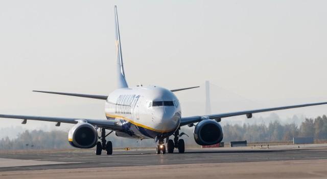 16.10.2018 jasionka lotnisko rzeszow jasionka samolot linii ryanair fot krzysztof kapica