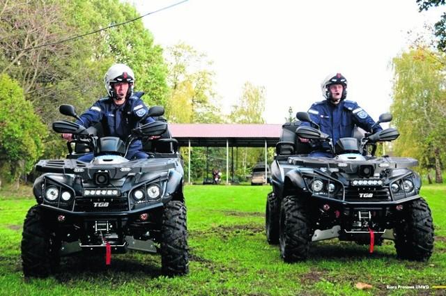 Funkcjonariusze z Komisariatu Wodnego Policji we Wrocławiu otrzymali dwa quady o łącznej wartości 120 tysięcy złotych