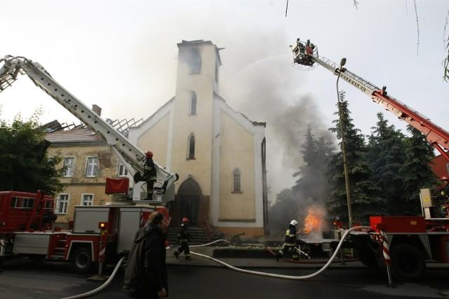 Kościół św. Józefa w Oławie spłonął w Boże Ciało