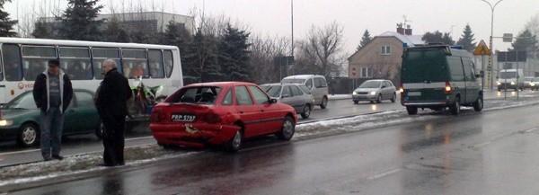 Rozbity escort na ul. Lwowskiej.