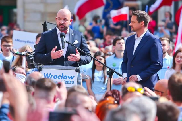 Jacek Sutryk popierał w wyborach Rafała Trzaskowskiego