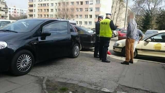 Zatrzymanie kierowcy Ubera przez wrocławskich taksówkarzy