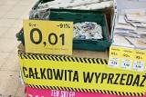 Kolejny market Tesco znika z mapy Kielc. Jeszcze kilka dni potrwa całkowita wyprzedaż towaru (ZDJĘCIA)