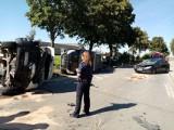 Zderzyły się 2 busy i samochód osobowy. Wypadek w Woli Malowanej w gminie Kodrąb