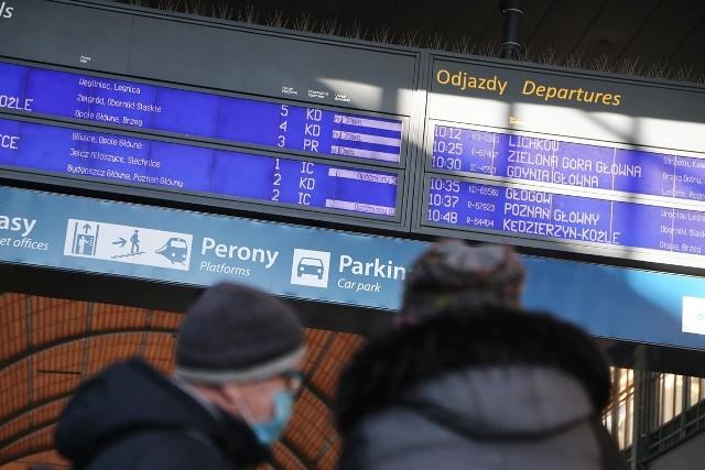 Opóźnienia pociągów na dworcu Wrocław Główny