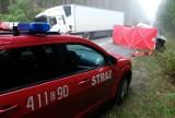 Wypadek na drodze wojewódzkiej 212 niedaleko Kopernicy. 13.10.2020 r. Nie żyje jedna osoba. Na miejscu 4 zastępy straży pożarnej