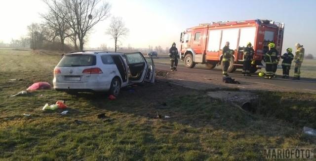 Wypadek pomiędzy Pisarzowicami a miejscowością Kierpień.