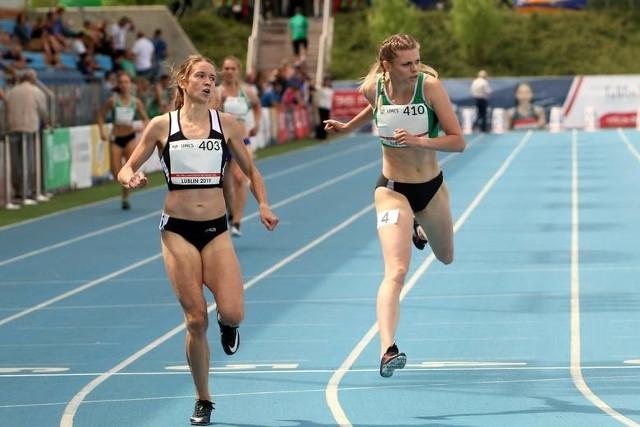 Marlena Gola (z prawej) w Lublinie wywalczyła dwa srebrne medale