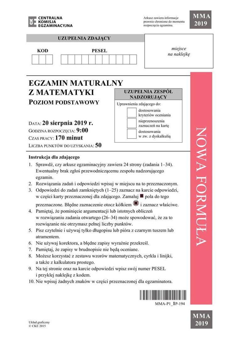 gazeta wyborcza matura z matematyki