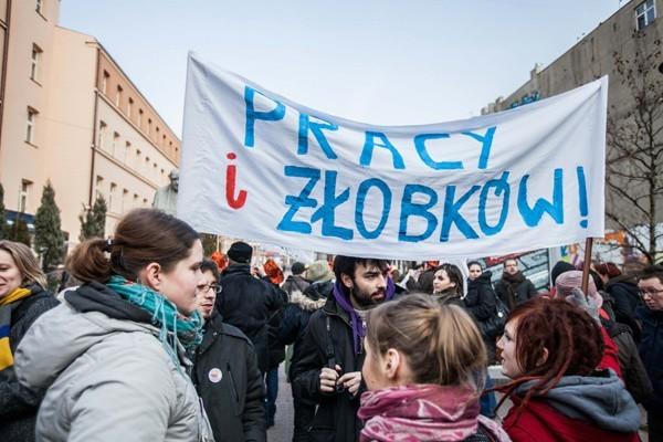 Manifestacja z okazji 8 marca