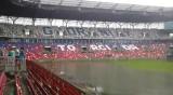 Stadion Górnika Zabrze zalany po burzy. Piłkarski turniej odwołany