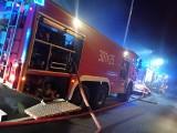 Pożar na działkach na ul. Chłapowskiego w Szczecinie. Nocna akcja straży pożarnej