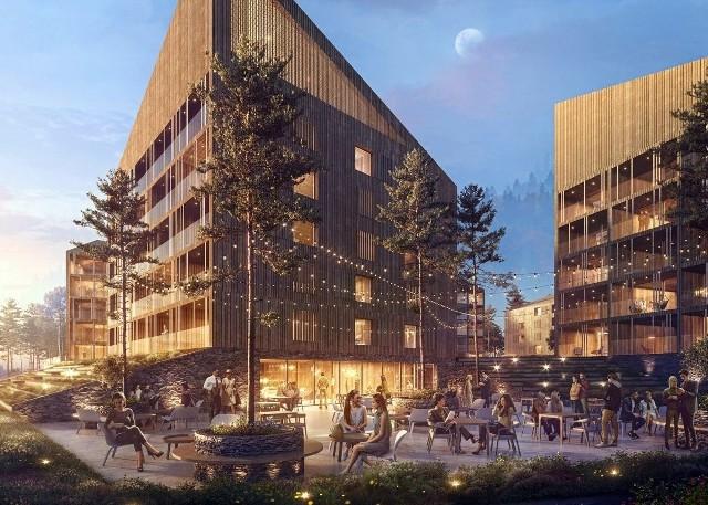 Zespół hotelowy zaprojektowany przez Franta Group powstanie na terenie, gdzie dawniej znajdował się pensjonat Rymer w Wiśle Nowej Osadzie.