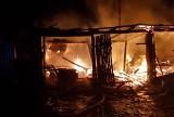 Górskie. Wielki pożar stolarni. 11 jednostek walczyło z ogniem (zdjęcia)