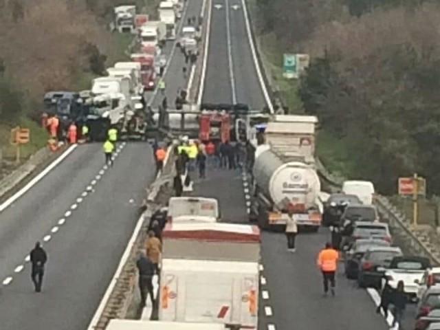 Wypadek na A10 we Włoszek. Kierowca z toruńskiej firmy transportowej zginął na miejscu.