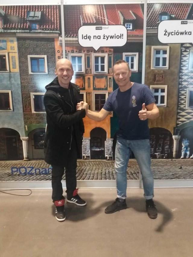 Jacek Mezo Mejer i Krzysztof Zawadka w przeddzień startu w 12. PKO Poznań Półmaraton wymienili się doświadczeniami i życzyli sobie powodzenia, a dzień później niekoniecznie poszli na żywioł...
