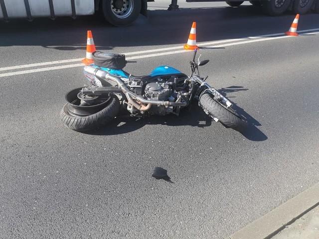 Motocyklista został potrącony na ul. Pileckiego