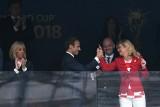 Mundial 2018. Francja drugi raz ze złotem. Prezydent Macron z radości wskoczył na podest