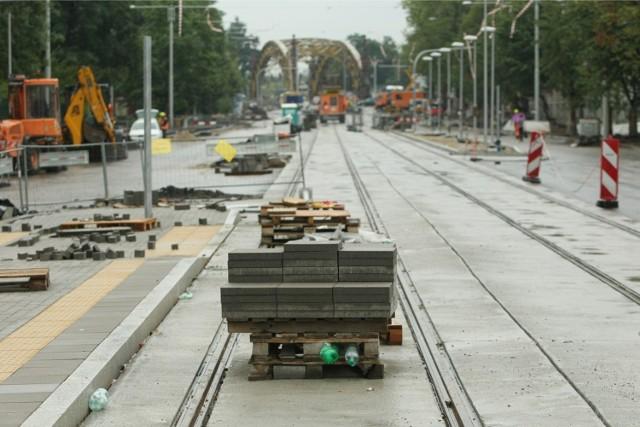 Remont ul. Marii Curie-Skłodowskiej. Zdjęcia z 24 lipca 2014