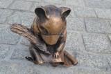 W Jaworznie na rynku pomnik chomika europejskiego odsłonięto. Na pyszczku ma maseczkę. Miasto od lat dba o populację gatunku