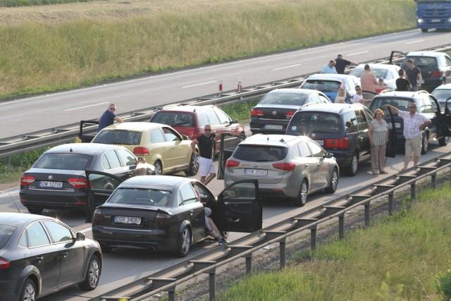 Korek na autostradzie A4, 29.05.2016/zdjęcie ilustracyjne