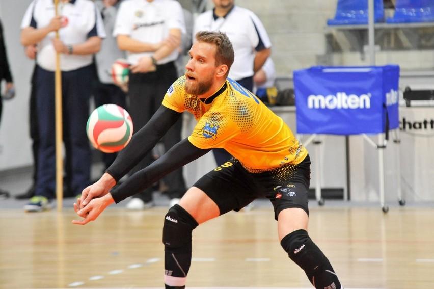 Karol Rawiak w barwach Stali Nysa w sezonie 2017/18