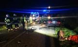 Wypadek na drodze z Pucka do Połczyna 08.10.2020 r. Trzy osoby zostały ranne, konieczne było wezwanie LPR