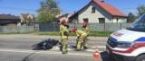Hajnówka: Wypadek z udziałem motocyklisty na ul. Bielskiej. Na Lipowej renault wjechało w ogrodzenie (zdjęcie)