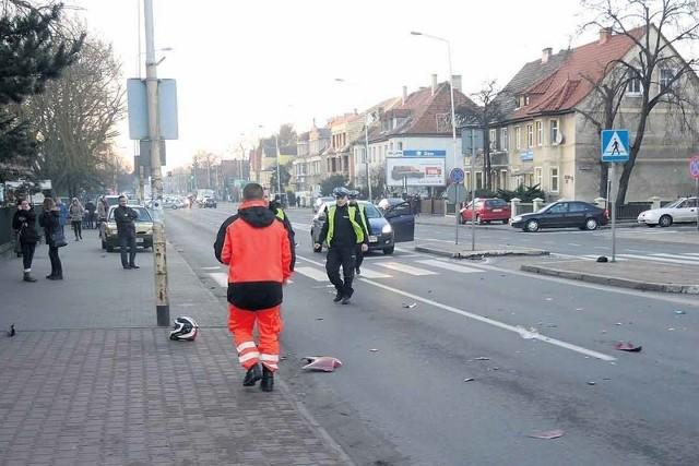 30 grudnia na ulicy Szczecińskiej śmiertelnie potrącony przez motocykl został pieszy. Trzy dni później zmarł motocyklista.